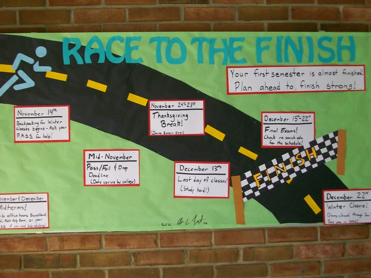 race to the finish bulletin boards amp decorations 2011