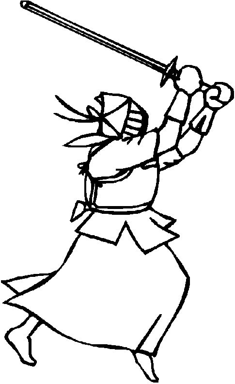 Japan Warrior Coloring Pages Japanese Culture For Kids