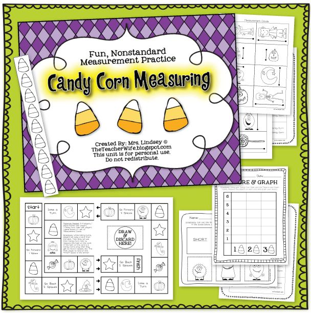 Halloween Candy Corn Measuring