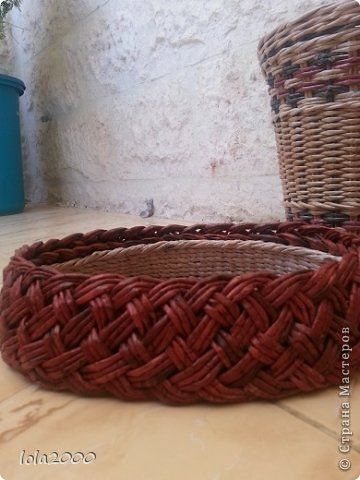 Поделка изделие Плетение наплелось немного Трубочки бумажные фото 11