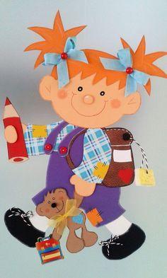 Fensterbild 1. Schultag - Mädchen - lila- Schultüte-Dekoration - Tonkarton!
