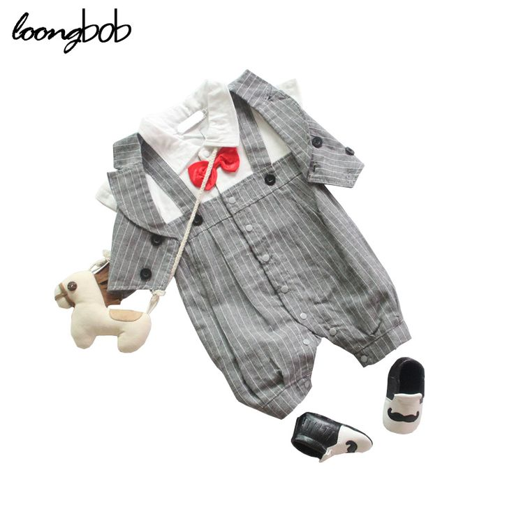 >> Click to Buy << Baby Boy Summer Autumn Romper 2pcs Vest + Romper Bebe Gentleman Short Sleeve Cotton Stripe Jumpsuit Infant Bow Party Formal Wear #Affiliate