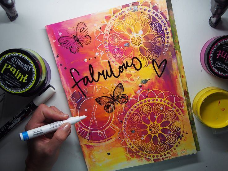 Super EASY & fast colour JOURNAL page #7 'Fabulous'