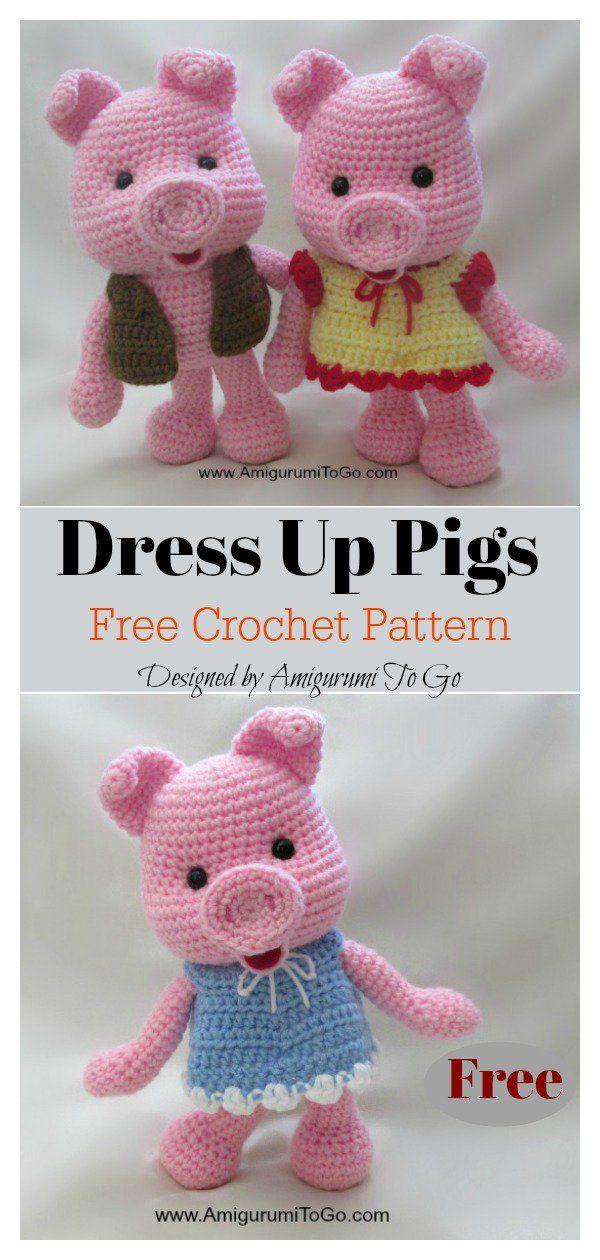 Amigurumi Tiny Pig Crochet Free Patterns - Crochet & Knitting | 1260x600