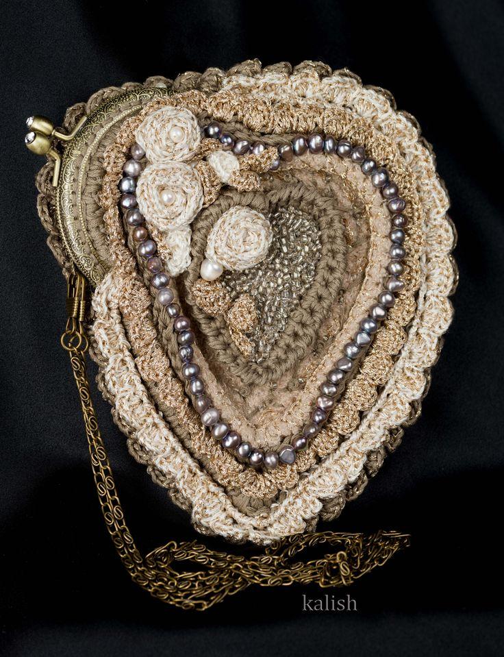 Коллекция `Perola Barroca` Сумочка ` Старинная Роза ` Дизайн - студия `KALISH`