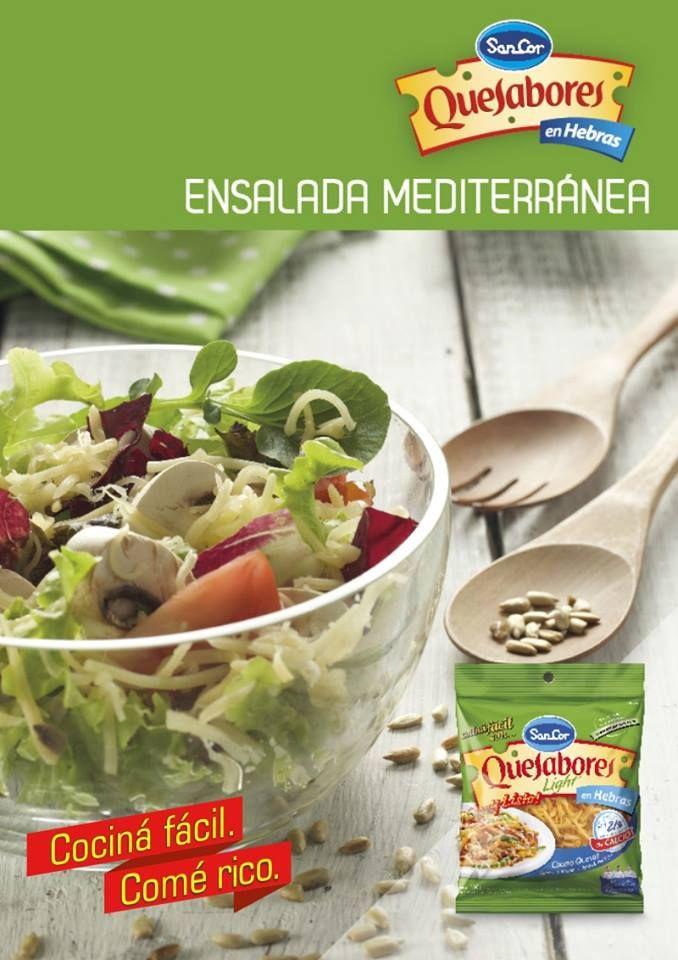 Receta ensalada mediterránea