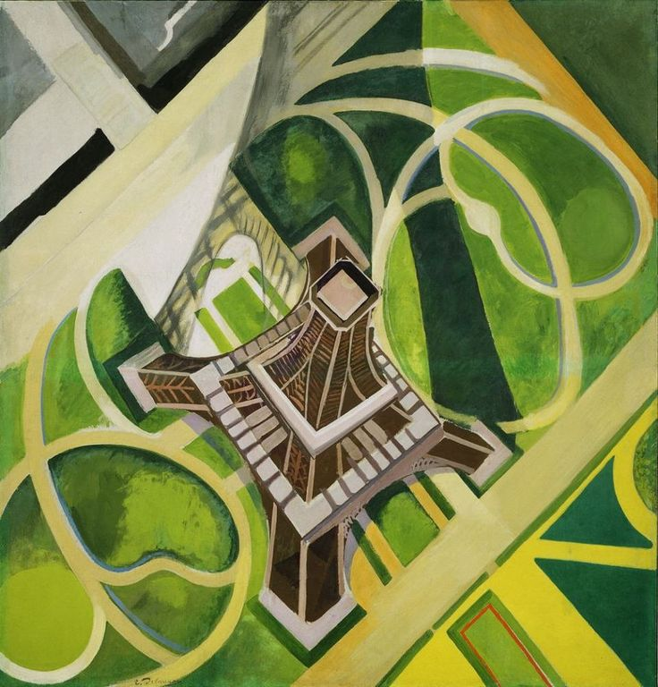 Delaunay explored the developments of Cubist fragmentation more explicitly in his series of paintings of the Eiffel Tower. Description from goodreads.com. I searched for this on bing.com/images
