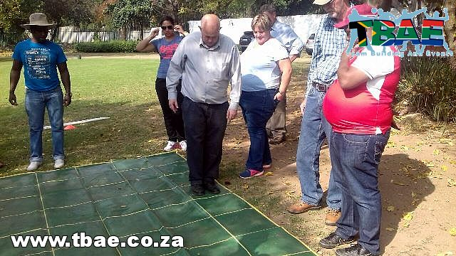 Minefield Team Building Exercise