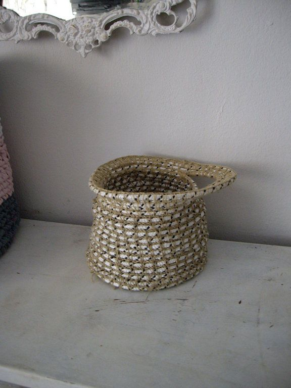 107 best images about ideas con cuerdas on pinterest un - Cesta de cuerda y ganchillo ...