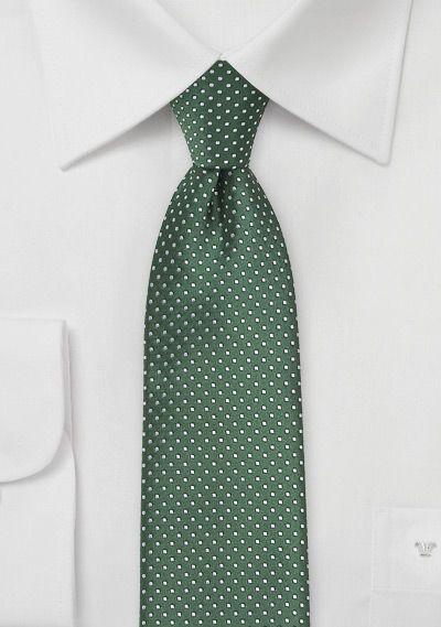 Skinny Pin Dot Tie in Hunter Green, $10 | Cheap-Neckties.com