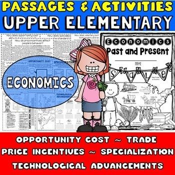 Economics Packet: I designed this packet and wrote the passages with the Georgia social studies standards in mind. These passages about economics are not specific to GA though, so they can be used by any teacher covering the same topics, which are: ✱Opportunity cost ✱Decision making  ✱Price incentives  ✱Specialization  ✱Voluntary Exchange  ✱Trade  ✱Technological advancements  ✱ A few other