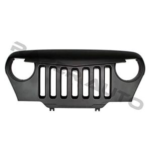 Razer Auto Matte Black Jeep Wrangler TJ Angry Skull Grille