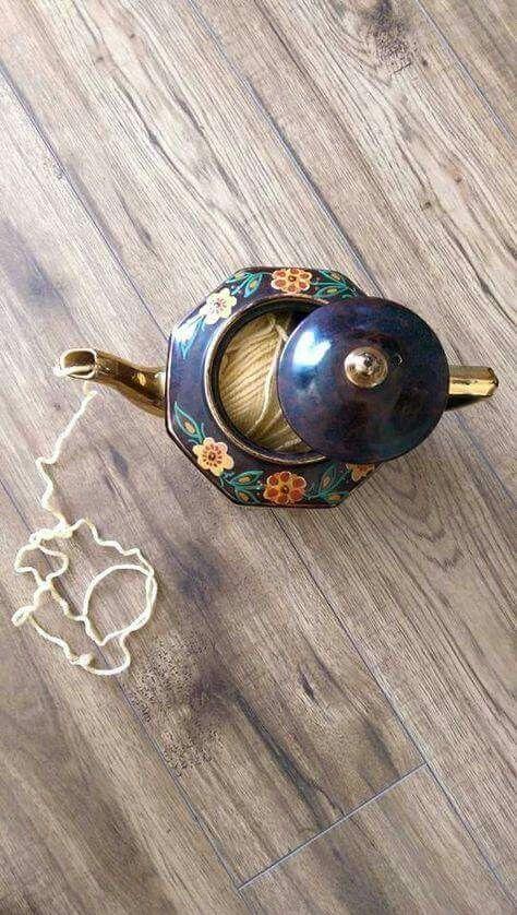 Yarn Bowl TeaPot!