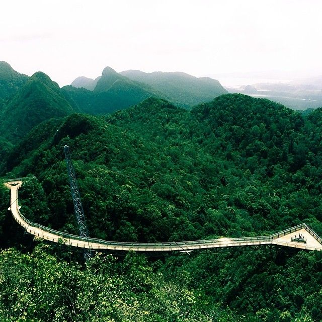 The sky bridge at Langkawi, Malaysia. Photo courtesy of mis_momentos on Instagram.