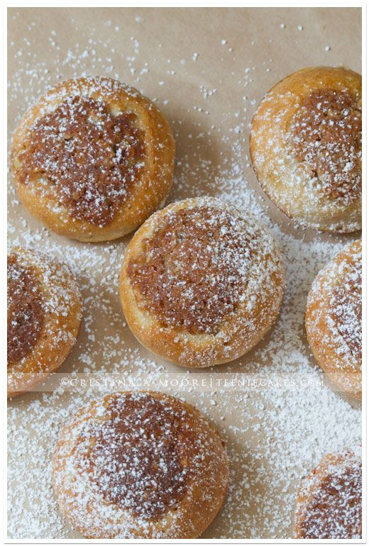 Ebelskivers with Streusel Banana Pecan Topping