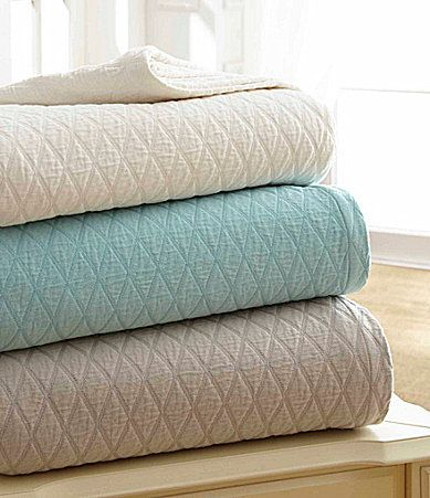 Southern Living Diamond Matelasse Coverlet Collection