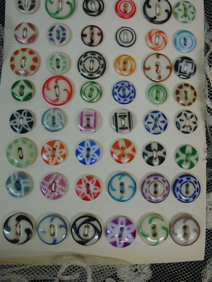 Antique China Stencil Buttons.