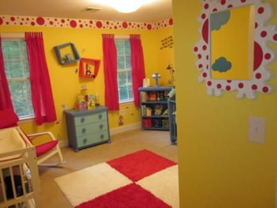 Our Baby Boyu0027s Dr Seuss Nursery With Bright Yellow Walls And Red White And  Blue Decorations: All Of The Furniture For Brysonu0027s Baby Seuss Nursery  Furniture ...