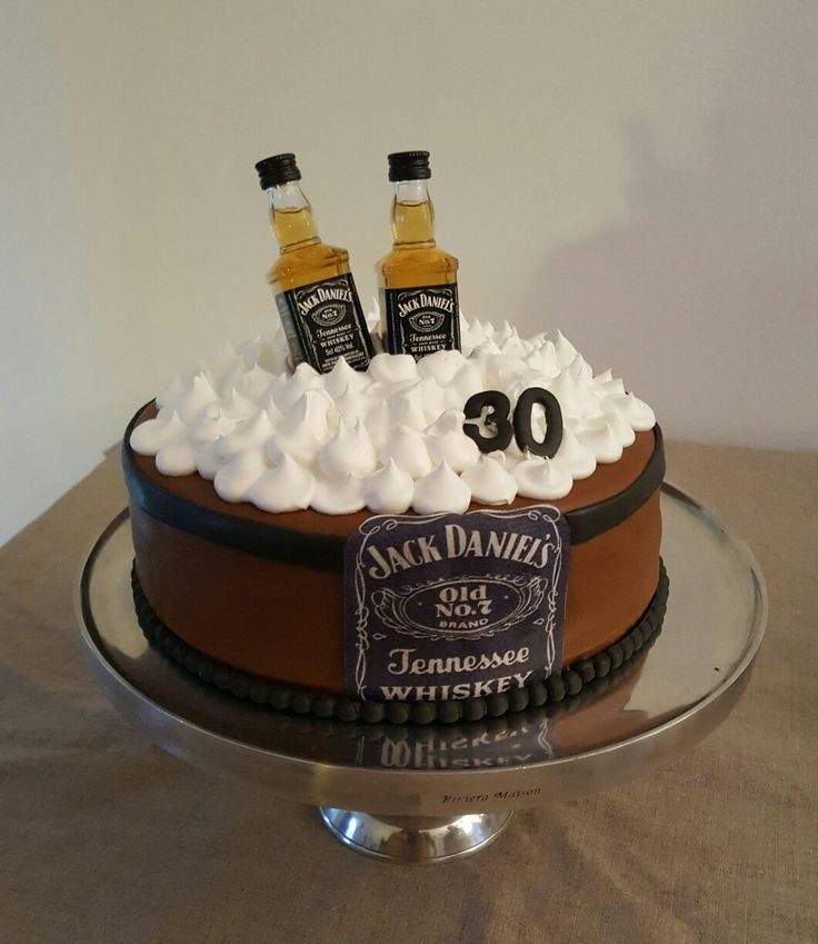 Jack Daniels  cake taart