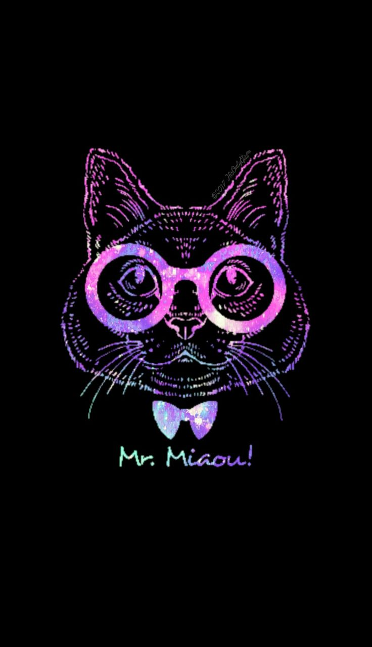 Mr Miaow kitty galaxy wallpaper I created for the app CocoPPa! #CocoPPa #tribal