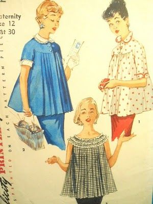 maternity smocksFirst Baby, Vintage Fashion, 50S Ears 60S, Maternity Pattern, 1960S Style, 1950 S, Maternity Clothing, 1950S Fashion, Maternity Styles
