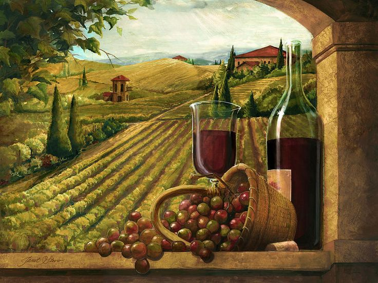 Vineyard Window Painting