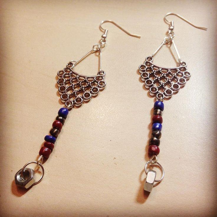 #earrings #techcollection #whenbohomeetstech #nut