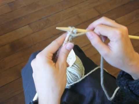 Cours de tricot 5 - le point jersey - YouTube