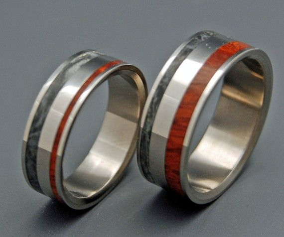 Smoke Before Fire - Wooden Wedding Rings on Etsy, $600.00