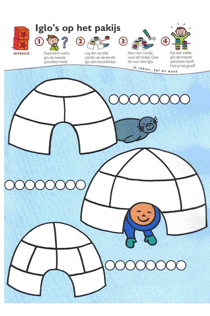Werkblad rekenen: iglo