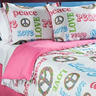 Peace Time Queen-size 4-piece Comforter Set | Overstock.com Shopping - The Best Deals on Kids' Comforter Sets