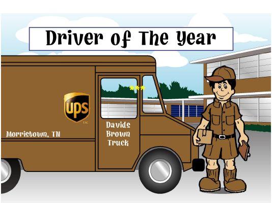 Ups Delivery Truck Cartoon