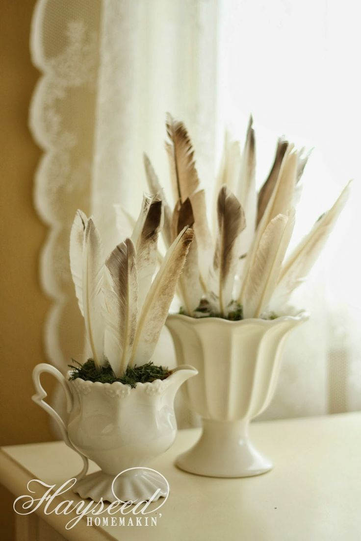 Small accent feather arrangements diy pinterest