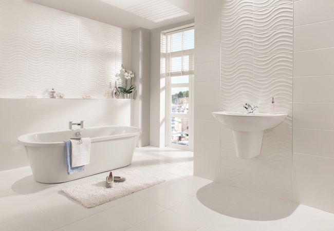 Found On Bing From Www Ctdtiles Co Uk In 2020 White Tile Bathroom Walls White Master Bathroom White Bathroom Tiles