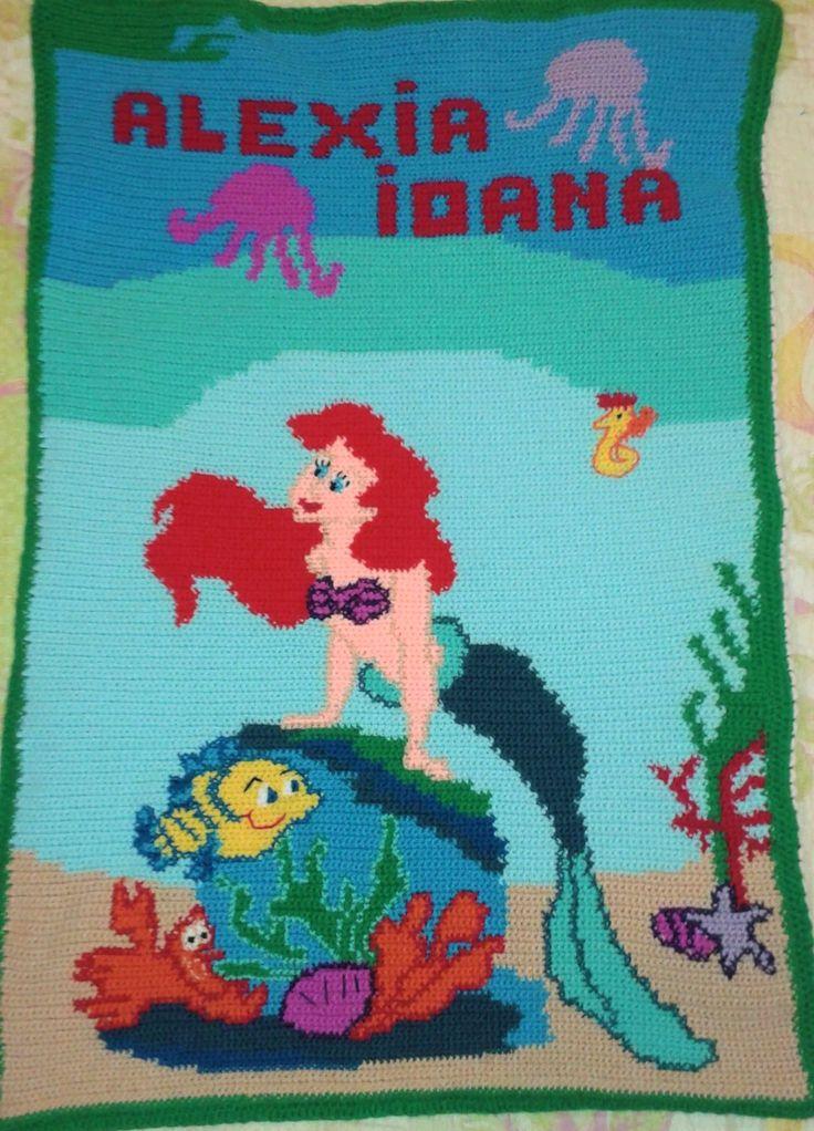 Little Mermaid Crochet Blanket
