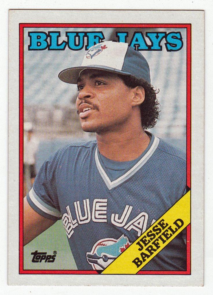 jesse barfield  140  1988 topps baseball  baseball