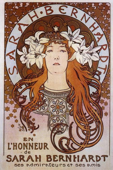 Sarah Bernhardt Alphonse Mucha Date: 1896