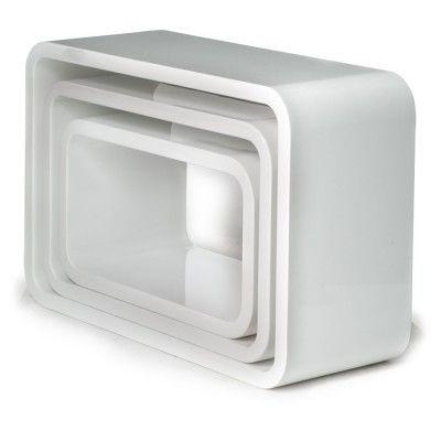 Set 3 cubi recta mensole rettangolari per arredo in legno for Cubi in legno arredamento