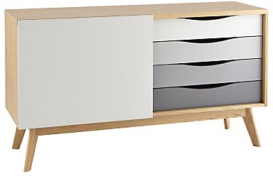 Scandinavian style credenza with gray ombre drawers. Minimal and chic.   #affiliatelink