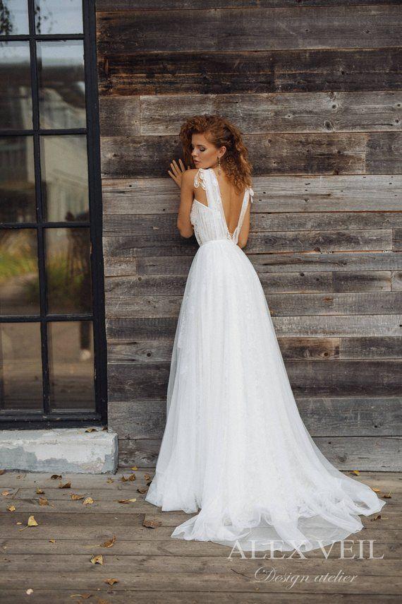 Wedding Dress Gwendoline Elegant Wedding Dress Boho Wedding