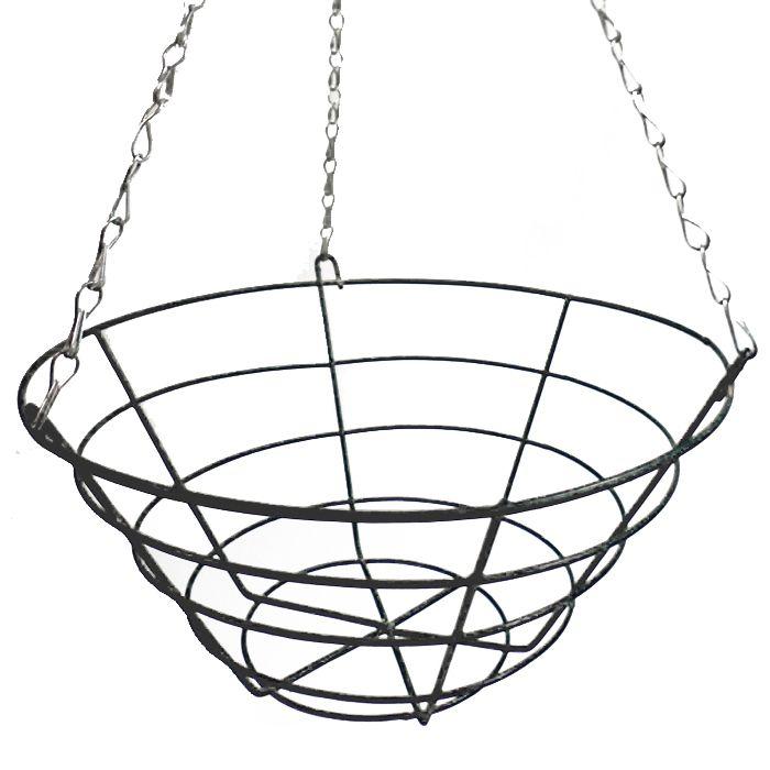 20 Inch Wire Hanging Basket From Ireland S Garden Shop Hanging Baskets Hanging Basket Brackets Hanging
