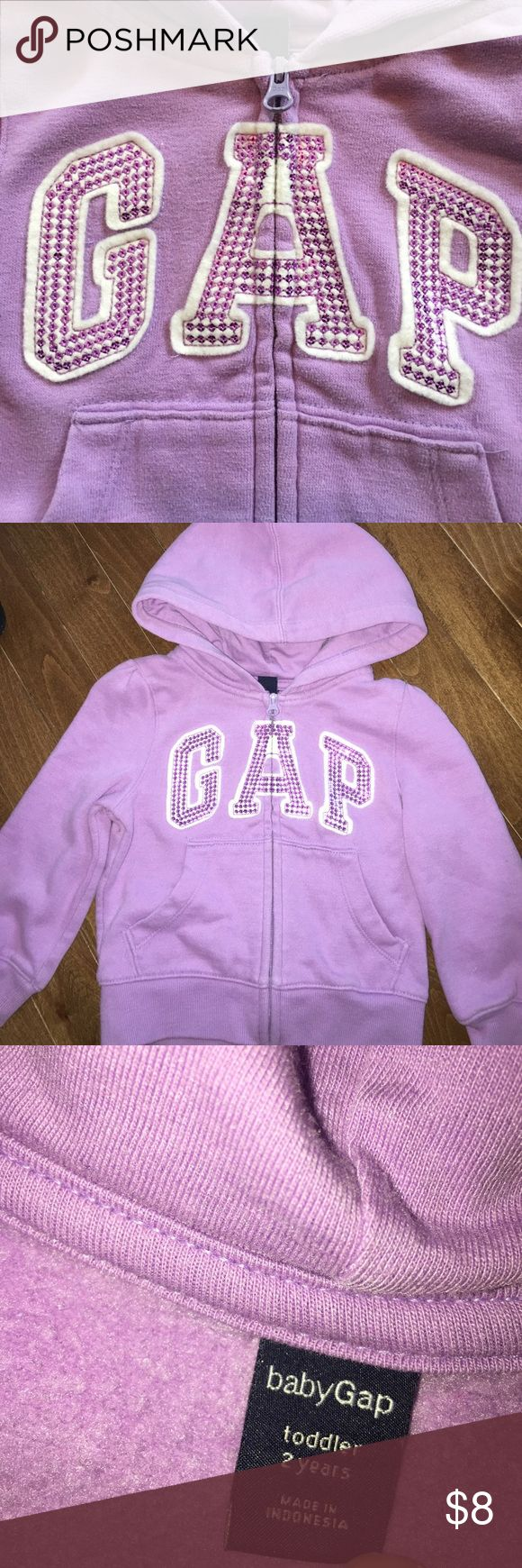 Purple zip up sweatshirt GAP purple zip up sweatshirt GAP Shirts & Tops Sweatshirts & Hoodies