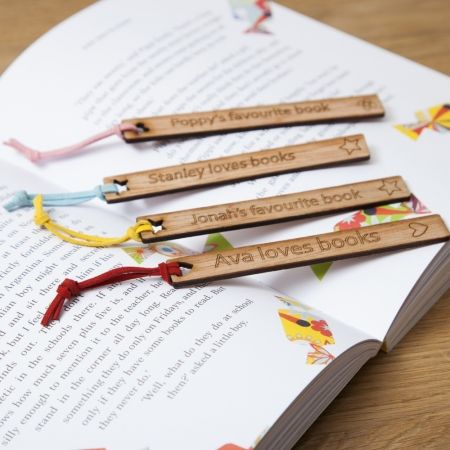 Personalised child's wooden bookmark : for my girl