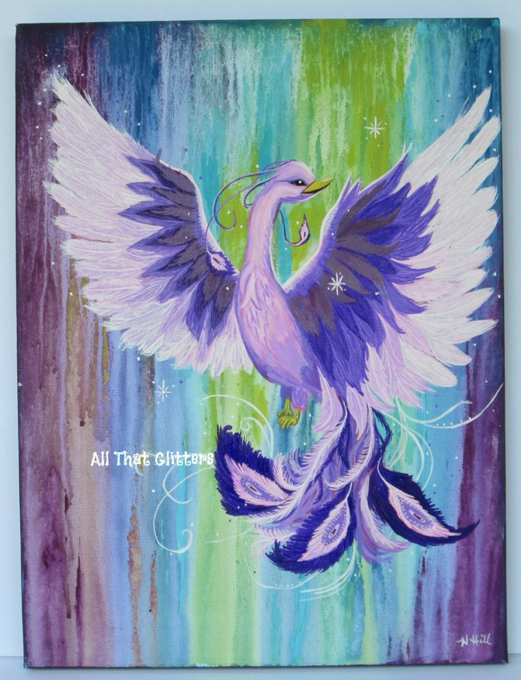 This painting is titled: Reborn 12x16 acrylic https://www.facebook.com/allthatglitters1234