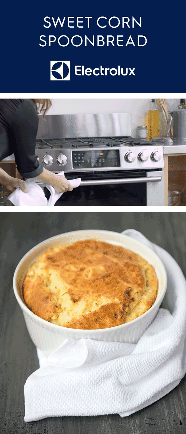 Electrolux and Vivian Howard of @achefslife perfectly mix cornbread and a souffle in this holiday spoonbread recipe. The light and airy texture of this impressive side dish is balanced by its savory taste thanks to a sprinkling of Fontina and Parmigiano-Reggiano. Then fresh, sweet corn is added before baking to bring it all together! Click for the full recipe.