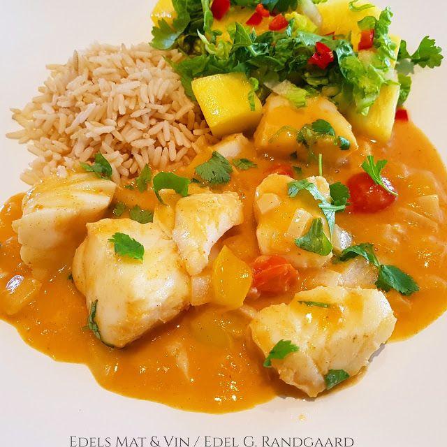 Edels Mat & Vin: Red curry Fiskegryte med torsk ♫ Servert med fullk...