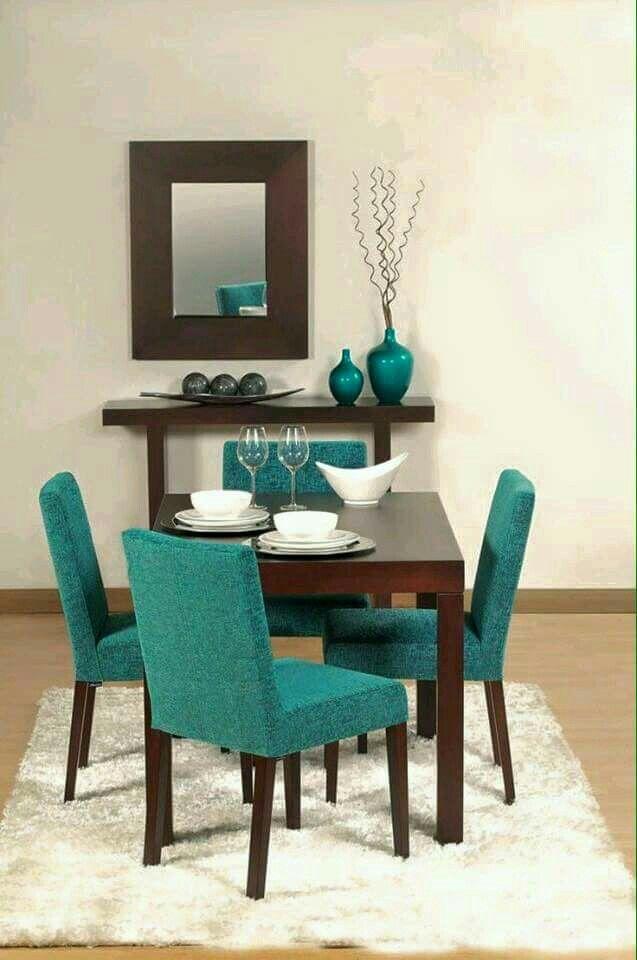 Decoración en tonos turquesa
