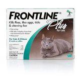 FRONTLINE PLUS has fipronil and (S)-methoprene that kill fleas, deer ticks (which may carry Lyme disease), brown dog ticks, American dog ticks, lone star ticks, flea eggs and larvae, and chewing lice. http://www.allvetmed.com/Frontline-Plus-Cat-p/FrontlinePlusCat.htm