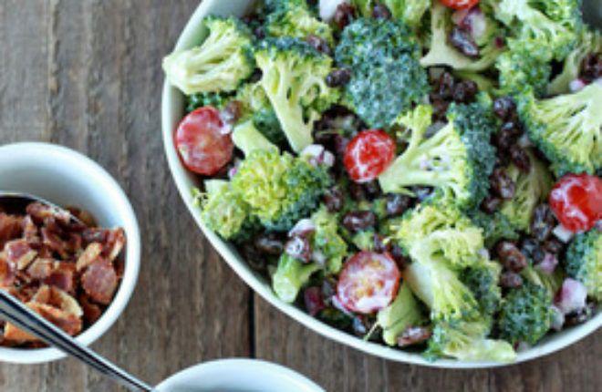 Broccoli Raisin Salad Your Way (with Optional Bacon & Sunflower Seeds)