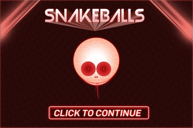 Snakeballs iOS Game graphics #game #gamegfx #gamegraphics #ui #ios #illustration #typography #logo